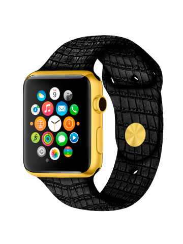 Caimania Apple Watch Gold - exclusive Apple Watch with golden frame