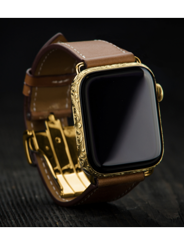 Caimania Apple Watch Rose Gold Handicraft - exclusive  Apple Watch with rose gold frame and handwork pattern